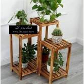 پایه گلدان از جنس چوب روسی - سه عددی