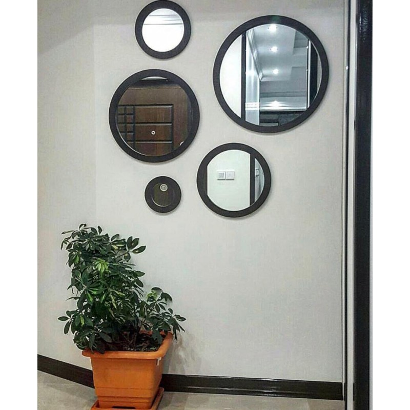 Image result for چیدمان آینه گرد